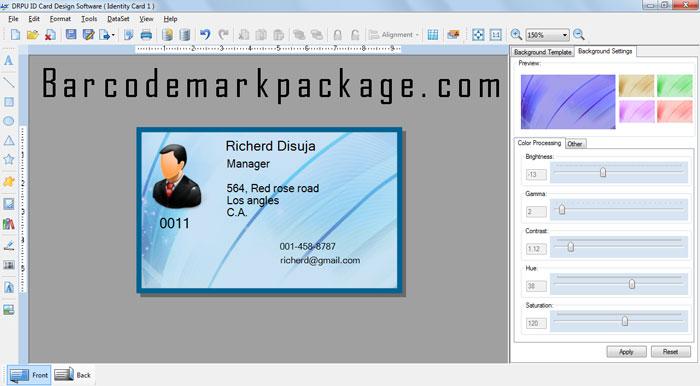 employee id card maker screenshot x 64 bit download